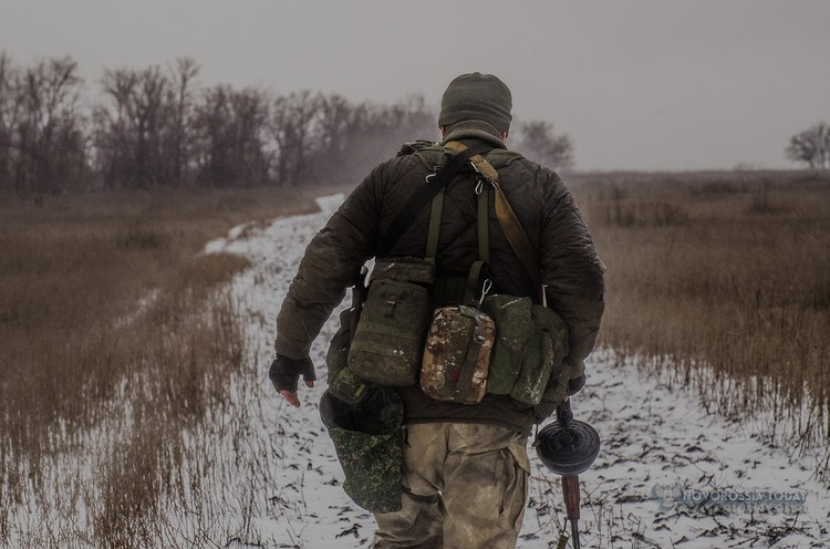 Разведчикам, как и шахтерам, желают одного: чтобы количество переходов линии фронта было равно количеству возвращений. Фото: Яна БАША/Новороссия