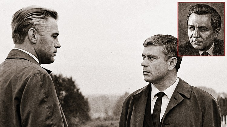 Конон Молодый (на фото справа) стал прототипом героя фильма «Мертвый сезон» Константина Ладейникова. Его сыграл Донатас Банионис (на фото внизу - справа). Фото: кадр из фильма, wikipedia.org