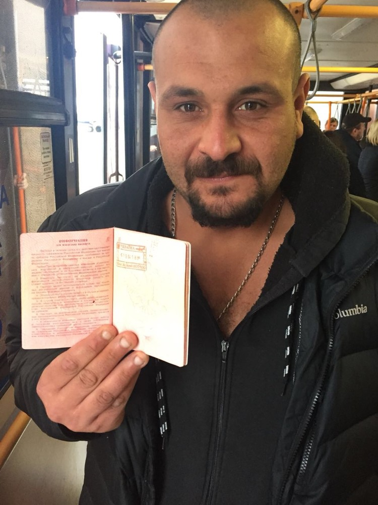 Российский загранпаспорт Дмитрий Таразанов получил 18 апреля. Фото: Александр Руденко, адвокат