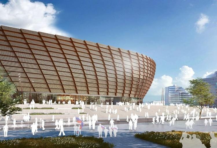 Третий вариант фасада разрабатывался архитекторами с оглядкой на цветовую палитру меди и дерева. Фото: УГМК