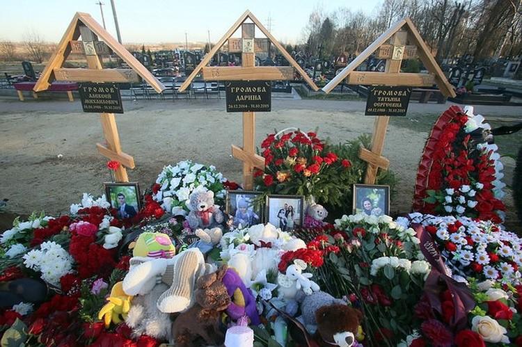 Всю семью Громовых похоронили в Пушкине.