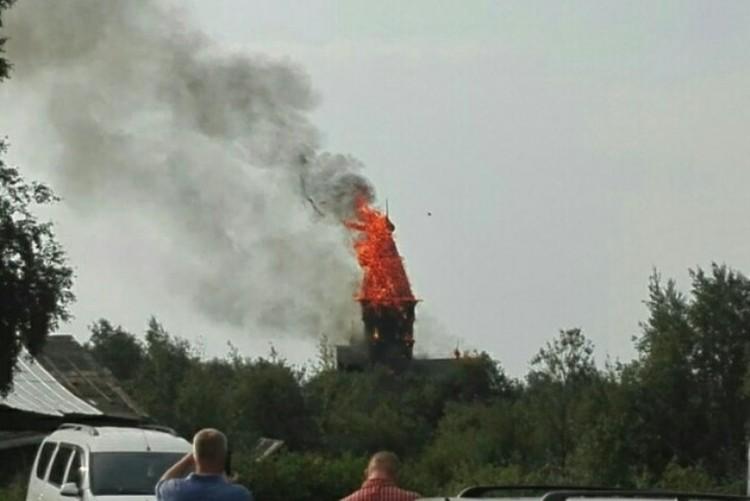 Церковь выгорела полностью Фото: ГУ МЧС по Республике Карелия