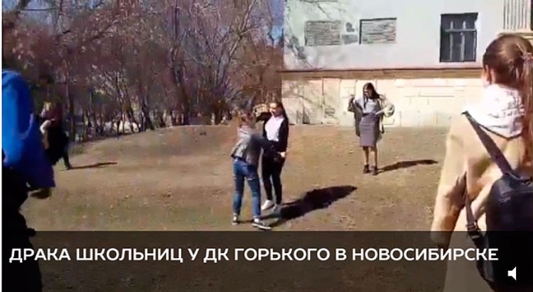 В Новосибирске восьмиклассницы устроили уличные бои