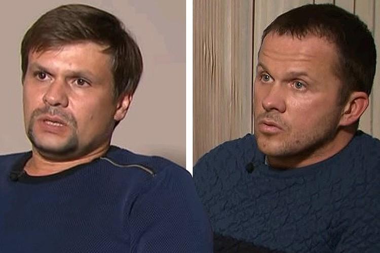 Россияне Алексей Петров и Руслан Боширов отрицают свою причастность к отравлению Скрипалей.