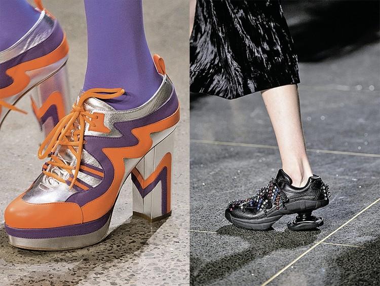Кроссовки на каблуке
