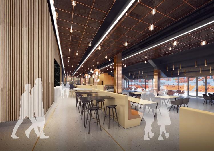 На втором уровне будет работать ресторан с панорамным окном. Фото: УГМК