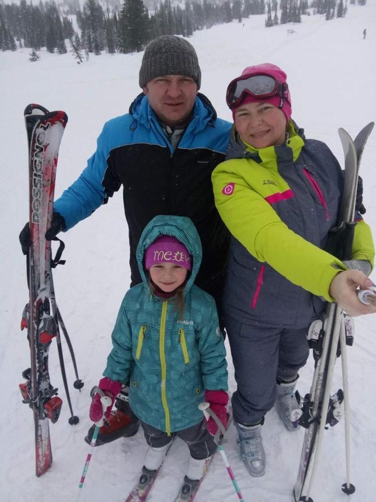 Семья Морозкиных полюбила в Якутии катание на лыжах. Фото предоставлено героем публикации.