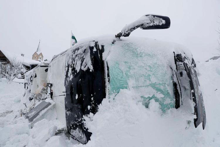 При сходе лавины в Австрии никто не пострадал