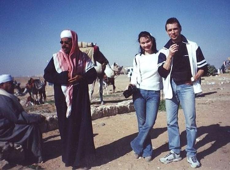 Ольга и Сергей в Египте 19 лет назад