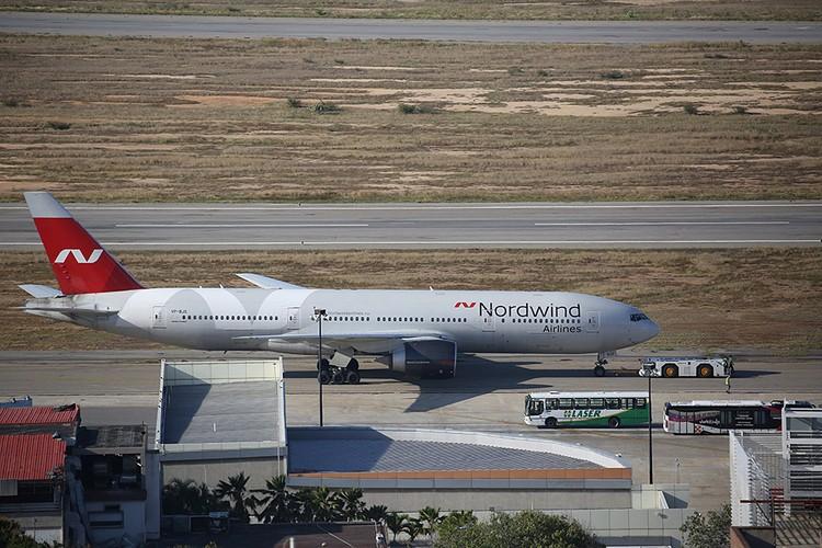 Boeing 777 авиакомпании Nordwind в Каракасе