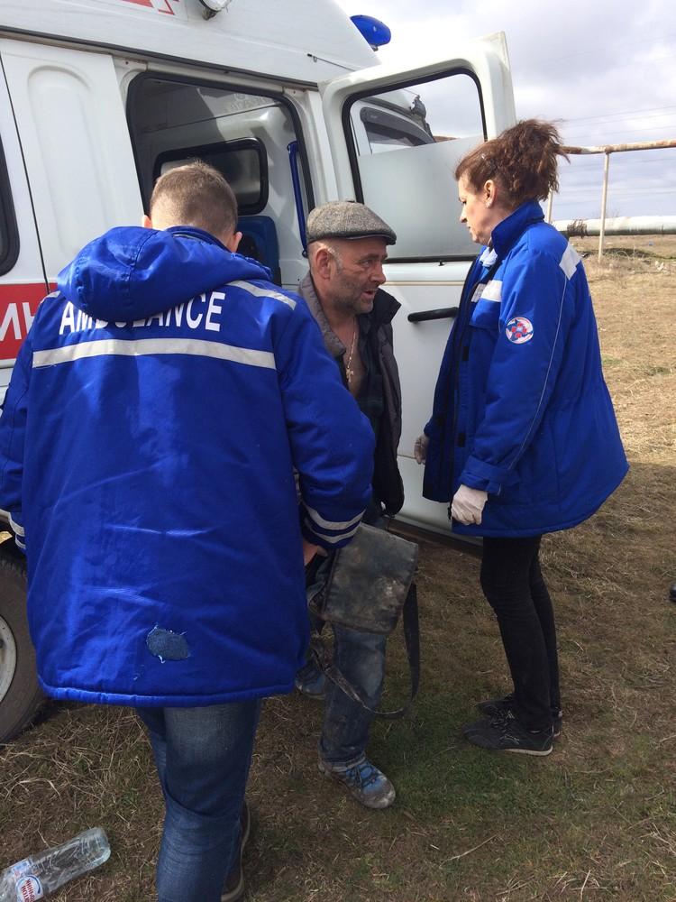 Пострадавший отказался от госпитализации. Фото: пресс-служба МЧС по Крыму