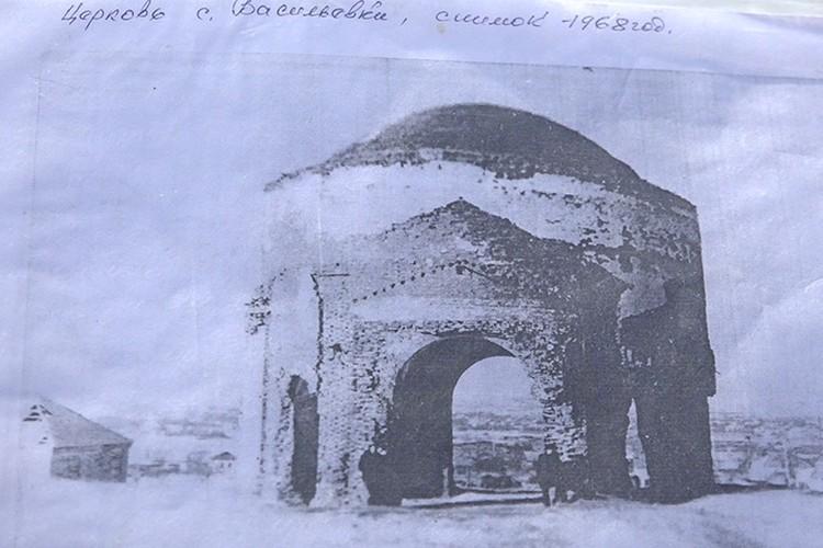 Единственная сохранившаяся фотография уникального храма.