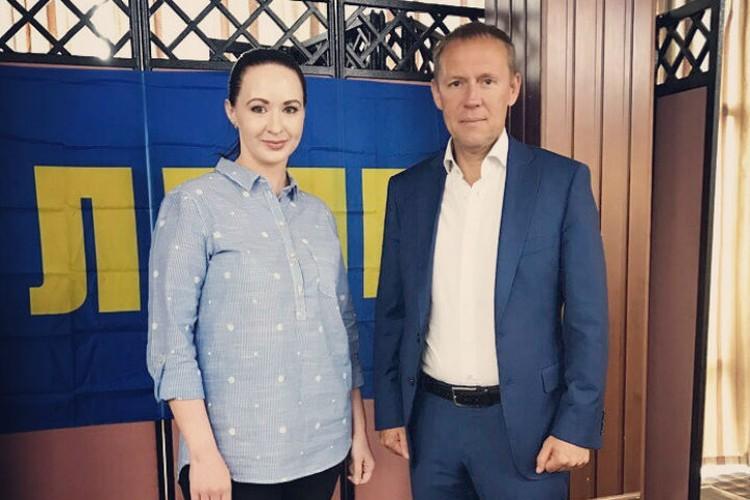 Анна с Андреем Луговым. Фото: соцсети