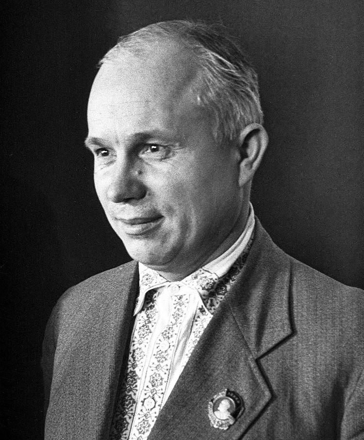 Первый секретарь МК и МГК партии Н.С.Хрущев (1935 г.). Фото Н.Петрова. Репродукция Фотохроники ТАСС