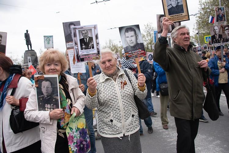 """В акции """"Бессмертный полк"""" приняли участие 55 тысяч севастопольцев"""
