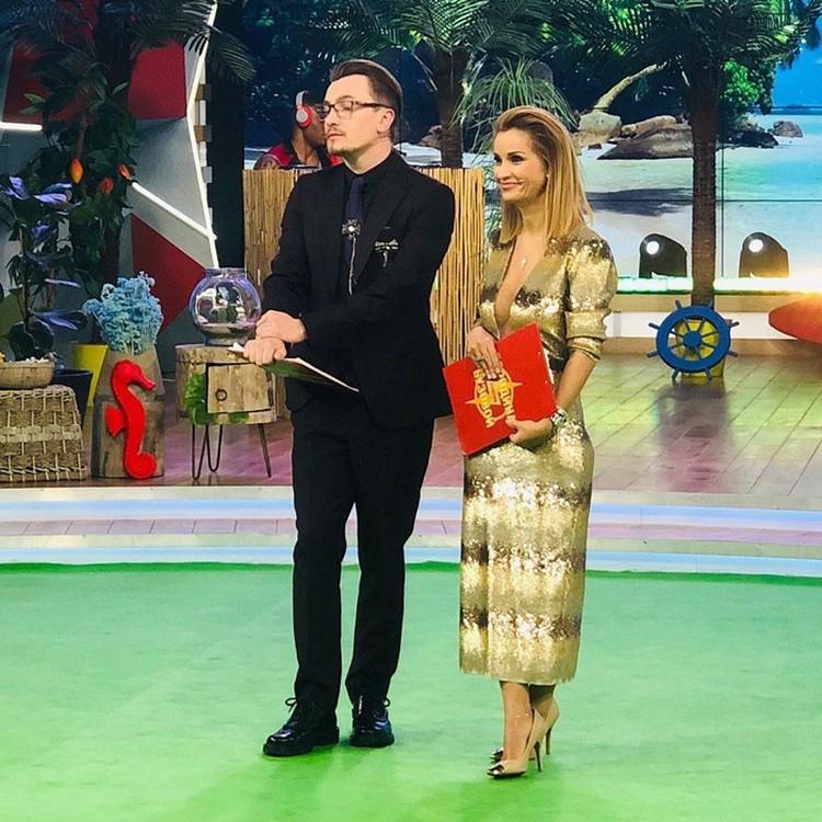 Влад Кадони с соведущей Ольгой Орловой