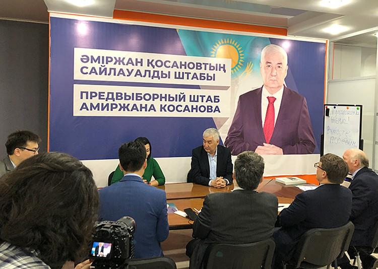 Кандидат в президенты Косанов нашел общий язык с группой наблюдателей из США