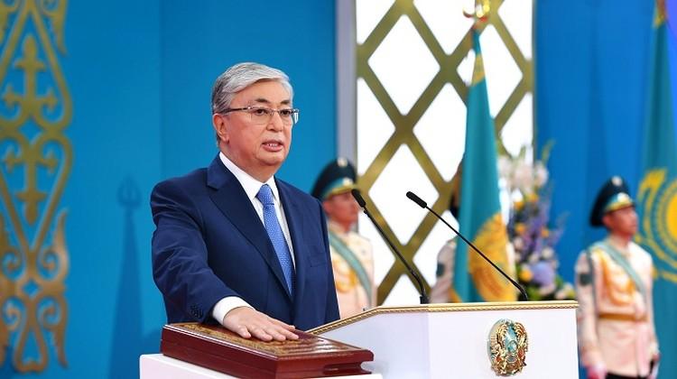 Он обратился впервые к казахстанцам как избранный президент.