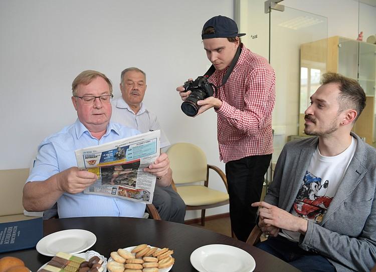 В пятницу, 21 июня, в редакции «Комсомолки» побывал Сергей Степашин