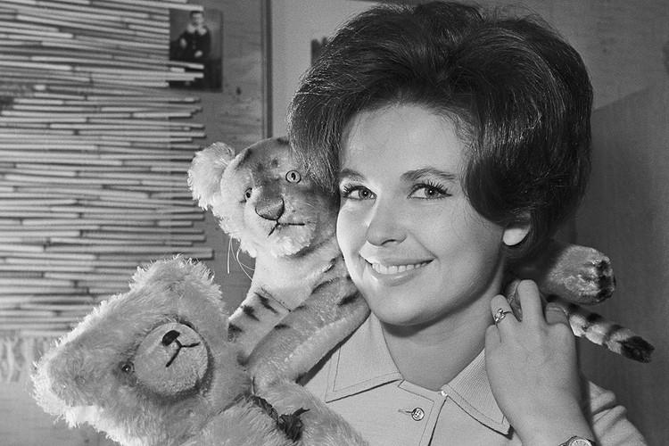 Актриса Наталья Фатеева, 1963 год. Фотохроника ТАСС
