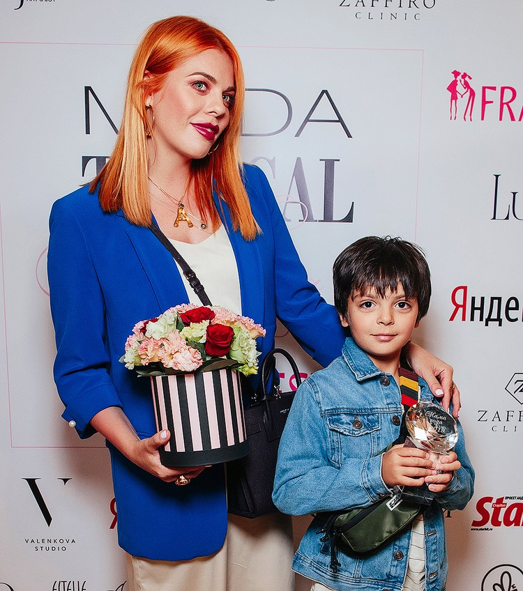 Анастасия Стоцкая с сыном.