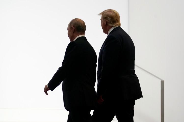 Путин и Трамп вместе пришли на церемонию фотографирования G20