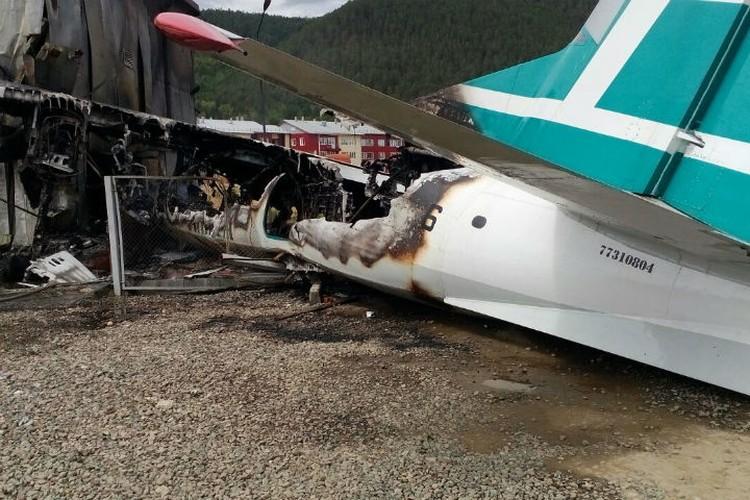 Ан-24 выгорел полностью.