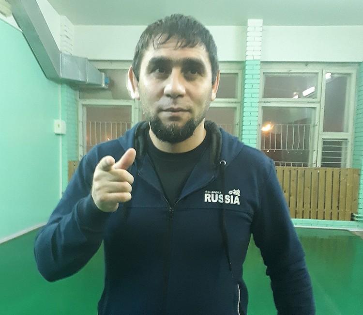 Чемпион России по боевому самбо Сахиб Мехдиев.