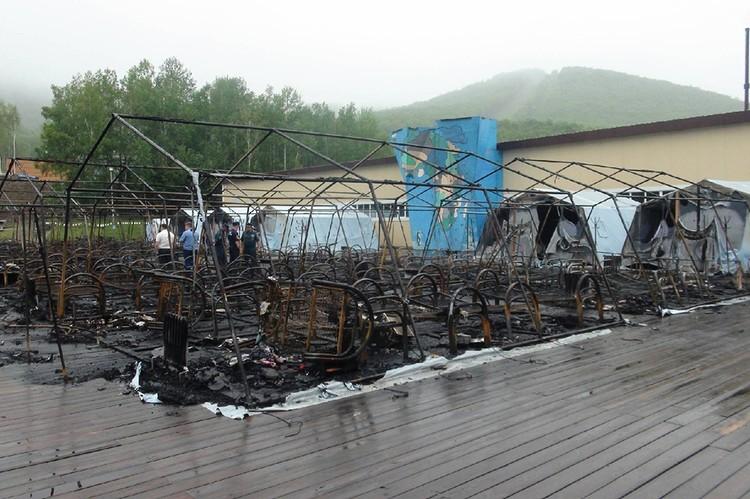 23 июля ночью на территории горнолыжного комплекса «Холдоми» в палаточном городке произошел пожар