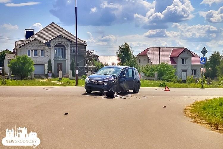 64-летняя автоледи допустила столкновение с байком. Фото: newgrodno.by.
