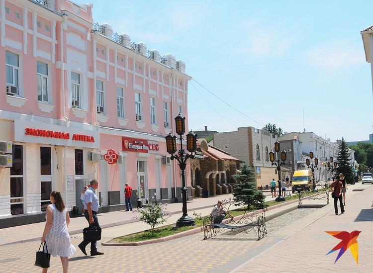 Улица Земская в центре города считается не только прогулочной, но и деловой и торговой, но почему-то здесь почти всегда пустынно.