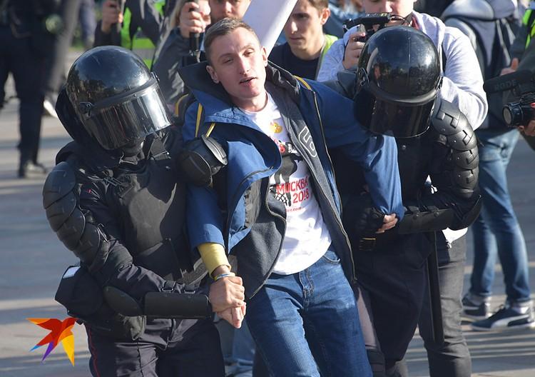 Организаторы митинга призвали участников стать очередными «жертвами» на несогласованных акциях