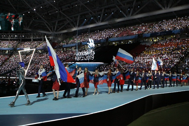 Встреча команды России.