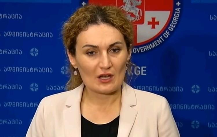 Госминистр Грузии по вопросам примирения Кетеван Цихелашвили.
