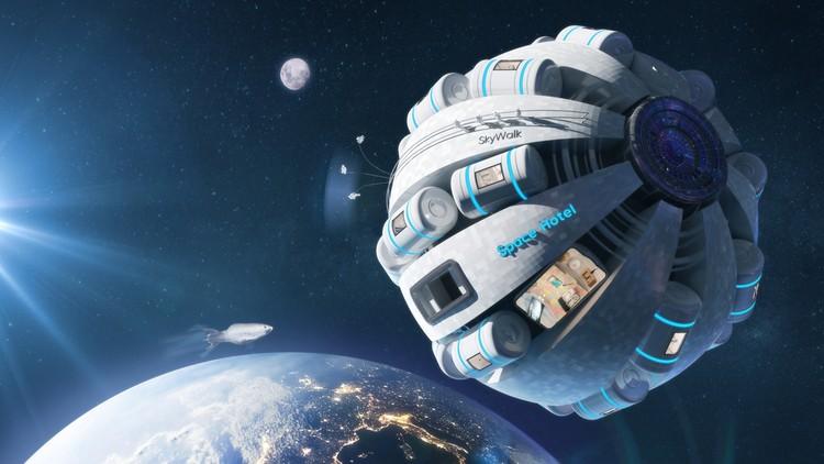 Проект отеля в космосе. Фото: Samsung