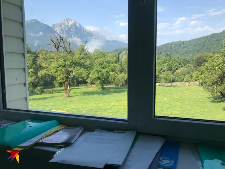 Вид из окна классного кабинета