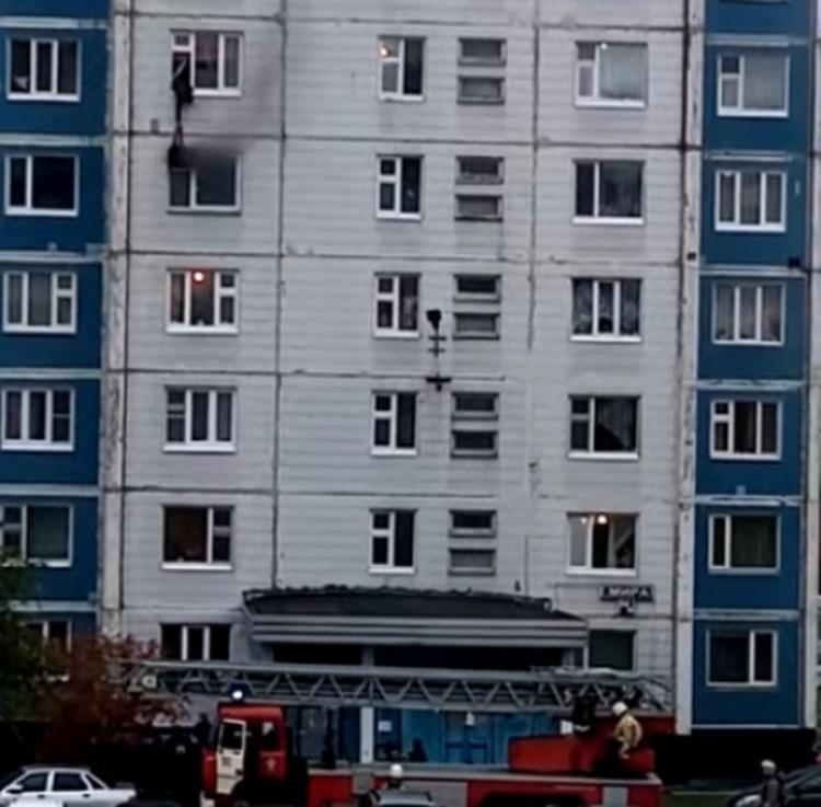 Мужчина с шестого этажа дотянулся до девушки и спас ее