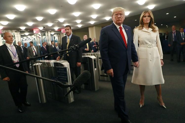 Дональд и Мелания Трамп прибыли на открытие 74 ассамблеи ОНН в Нью-Йорке.
