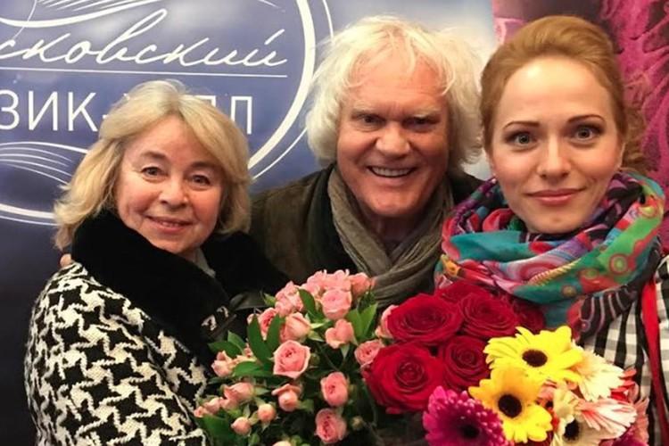 Юрий Куклачев с супругой Еленой и дочерью Екатериной.