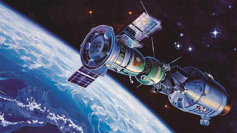рисунки космонавта леонова про космос фотографии