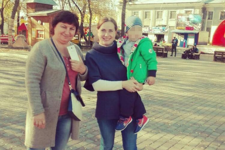 Екатерина Глотова с мамой и сыном. Фото: предоставлено Екатериной Глотовой