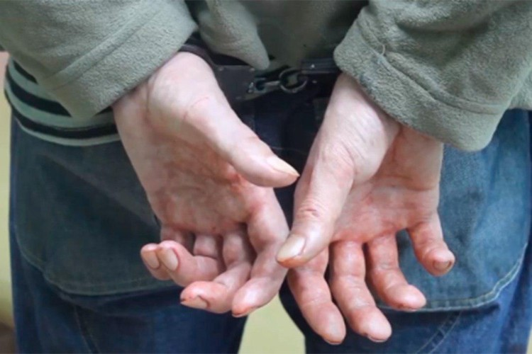 На допросе у убийцы тряслись руки Фото: СКР