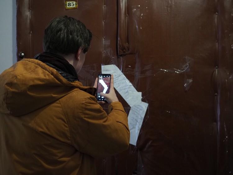 Квартира, в которой Олег Соколов убил 24-летнюю Анастасию Ещенко, сейчас опечатана.