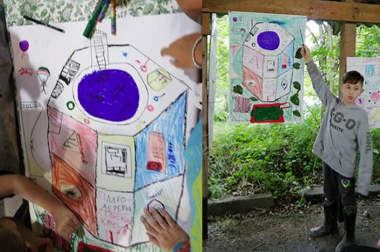 """В разработке проекта будущего клуба дети принимали самое активное участие Фото: """"Палеодеревня"""""""
