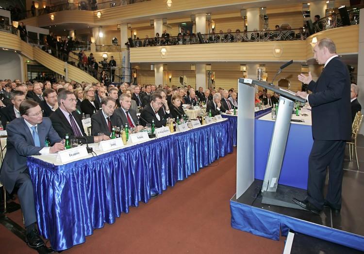 Выступление Владимира Путина в Мюнхене 10 февраля 2007 года. Фото: Дмитрий Астахов/ТАСС