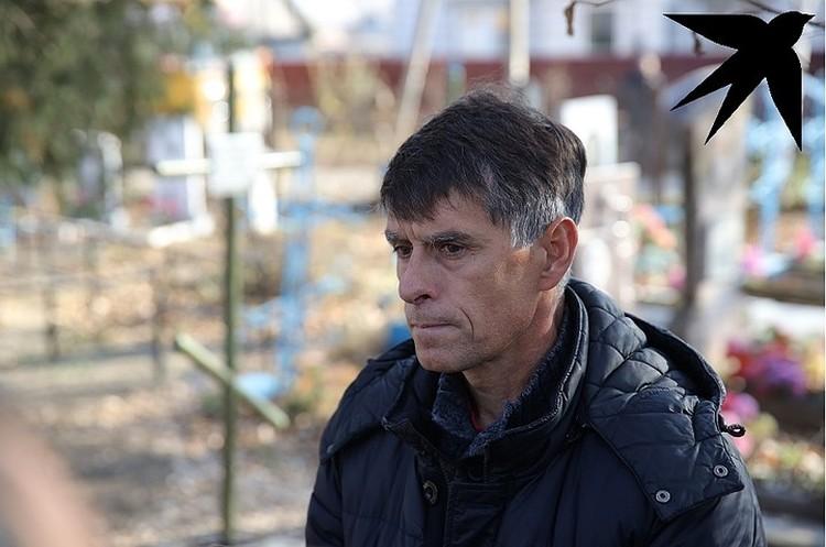 Отец убитой Насти Олег Ещенко.