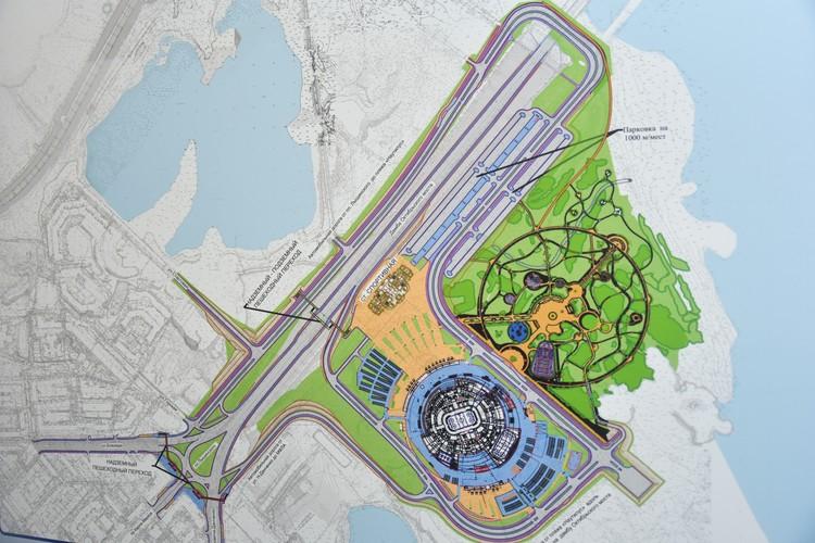 Проект зоны станции и ЛДС – вид сверху.