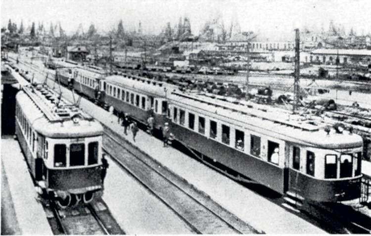 Так выглядел первый советский электропоезд, пущенный по маршруту Баку – Сабунчи – Сураханы в 1926 году