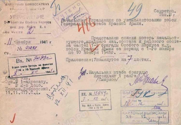 Боевые потери, где отмечен и Иван Заканевский, перечислялись на семи листах