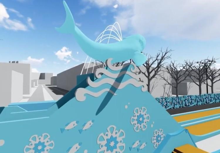 Ледяной кит будет оборудован подсветкой. Фото: администрация Екатеринбурга